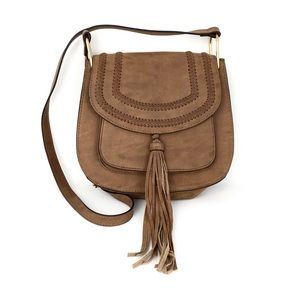 Franco Sarto BOHO Shoulder Bag Camel Color Tassel